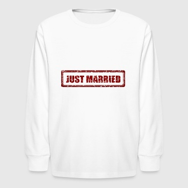 Just Married Marriage Stamp Gift Present - Kids' Long Sleeve T-Shirt