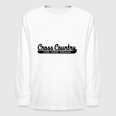 2541614 15376355 cross country - Kids' Long Sleeve T-Shirt