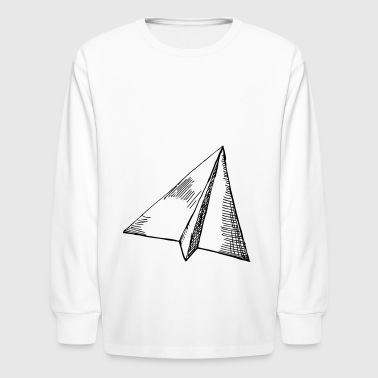 Paper Airplane - Flight - Kids' Long Sleeve T-Shirt