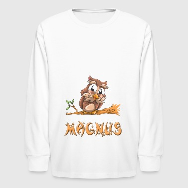 Magnus Owl - Kids' Long Sleeve T-Shirt