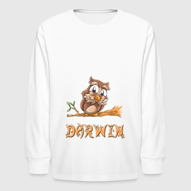 Darwin Owl - Kids' Long Sleeve T-Shirt