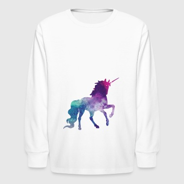 unicorn galaxy - Kids' Long Sleeve T-Shirt