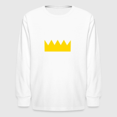 King of the World (White Font) - Kids' Long Sleeve T-Shirt