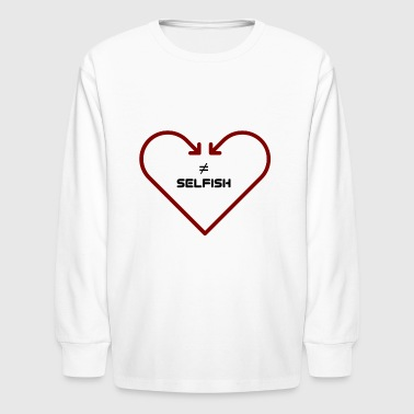love is not self-seeking - Kids' Long Sleeve T-Shirt