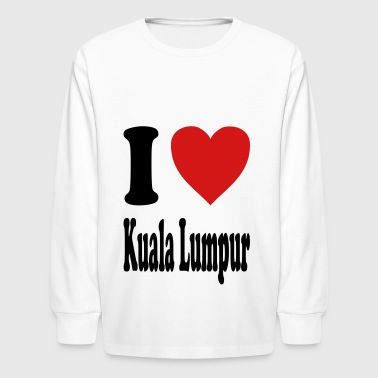 I love Kuala Lumpur (variable colors!) - Kids' Long Sleeve T-Shirt