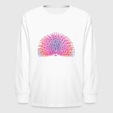 Bright Colorful Peacock - Kids' Long Sleeve T-Shirt