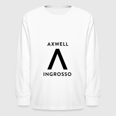 Axwell Ingrosso (Black Text) - Kids' Long Sleeve T-Shirt