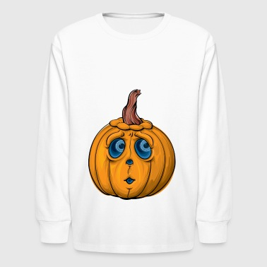 Pumpkin Cartoon Design Halloween! - Kids' Long Sleeve T-Shirt