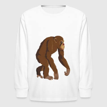 chimpanzee monkey ape gift present - Kids' Long Sleeve T-Shirt