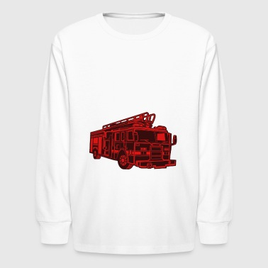 Fire Fighters Truck - Kids' Long Sleeve T-Shirt