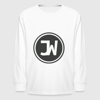 Grey Johannes With Logo - Kids' Long Sleeve T-Shirt