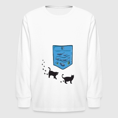 aquarium pocket - Kids' Long Sleeve T-Shirt