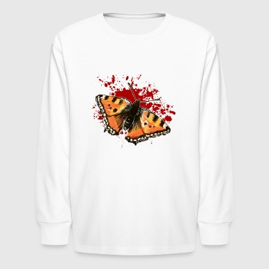 butterfly splatter - Kids' Long Sleeve T-Shirt
