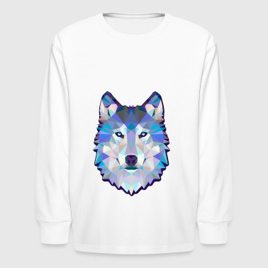 W-olf Ani-mals Gift tee shirt - Kids' Long Sleeve T-Shirt