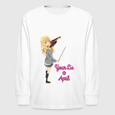 Miyazono Kaori ~ Your Lie in April ~ - Kids' Long Sleeve T-Shirt