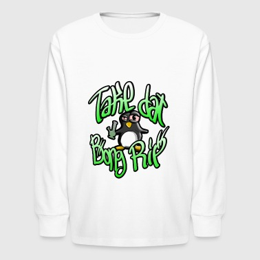 Bong Rip Penguin - Kids' Long Sleeve T-Shirt