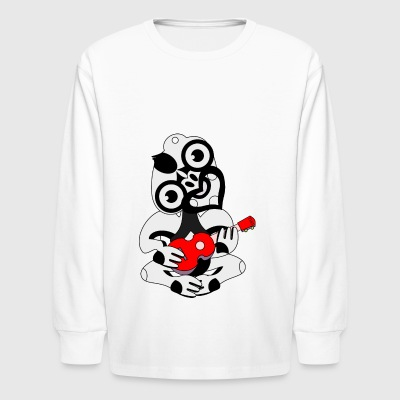 Hei Tiki Ukulele - Kids' Long Sleeve T-Shirt