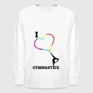 I Love Artistic Gymnastics - Kids' Long Sleeve T-Shirt