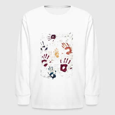 Hands paint - Kids' Long Sleeve T-Shirt