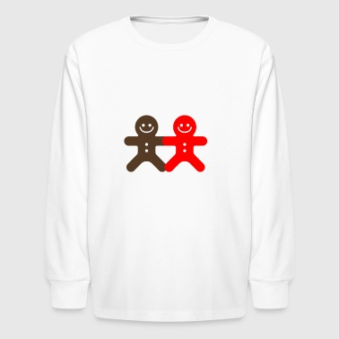 Small Ginger Bread Man funny tshirt - Kids' Long Sleeve T-Shirt