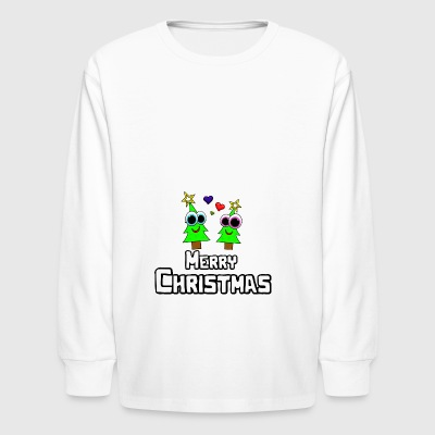Merry Christmas Christmas Tree Gift Idea - Kids' Long Sleeve T-Shirt