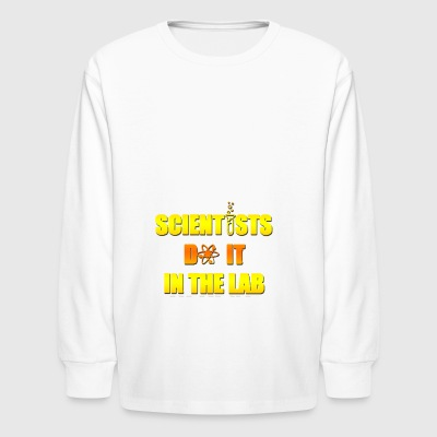 scientist do it in the lab - Kids' Long Sleeve T-Shirt