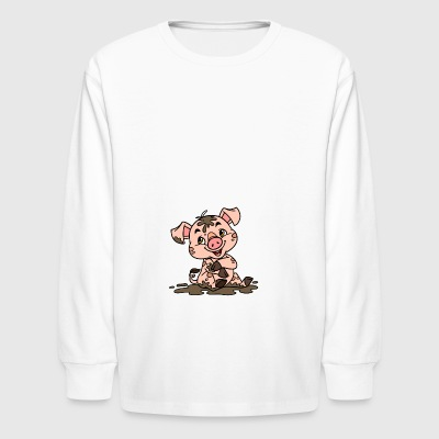 Dirty sow - Kids' Long Sleeve T-Shirt