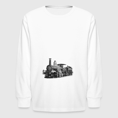 Old locomotive - Kids' Long Sleeve T-Shirt