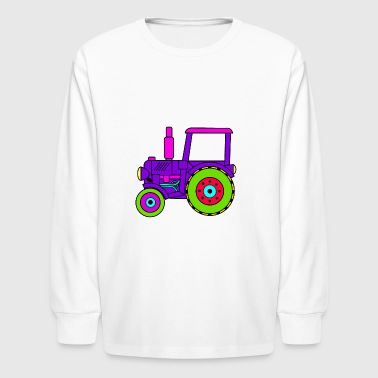 toy tractor / toy tractor pink - Kids' Long Sleeve T-Shirt
