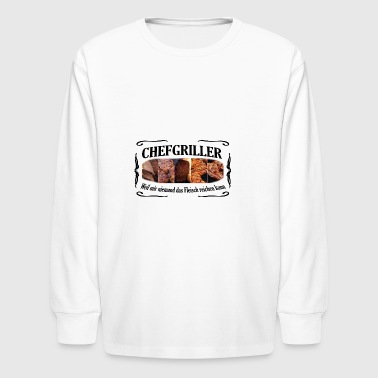 CHEFGRILLER schwarz - Kids' Long Sleeve T-Shirt