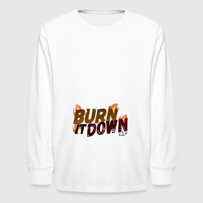 (FADED) BURN IT DOWN! BY VIVAAN 117\SPECTRUM - Kids' Long Sleeve T-Shirt