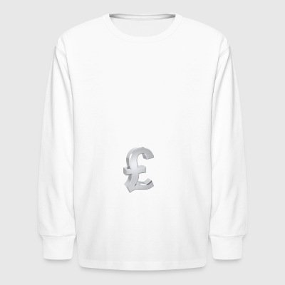 Currency, pound - Kids' Long Sleeve T-Shirt