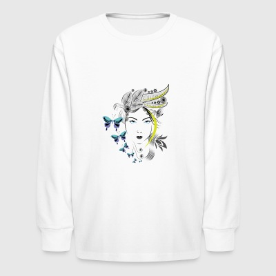 abstract woman - Kids' Long Sleeve T-Shirt