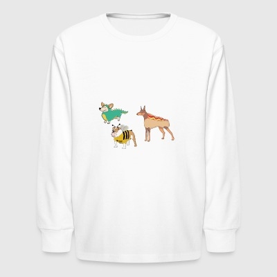 hotdog hot dog sausages fast food fastfood3 - Kids' Long Sleeve T-Shirt