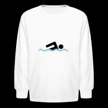 freestyle swimming - Kids' Long Sleeve T-Shirt