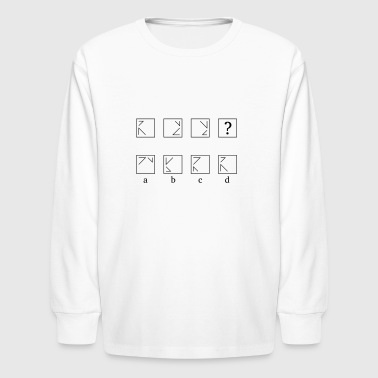 Logically continue the series - Kids' Long Sleeve T-Shirt