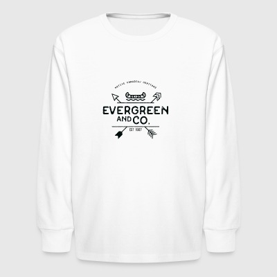 Evergreen and Co. Classic Canoe - Kids' Long Sleeve T-Shirt