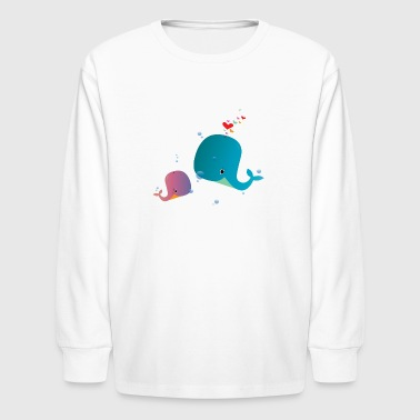 Whale You Be My Valentine? - Kids' Long Sleeve T-Shirt