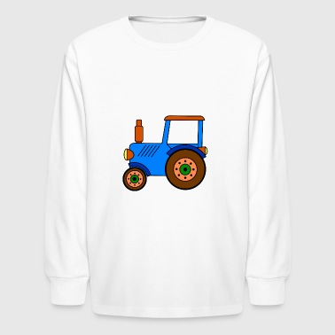 toy tractor / blue toy tractor - Kids' Long Sleeve T-Shirt