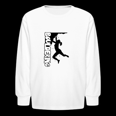 Bouldering - black - Women - Kids' Long Sleeve T-Shirt