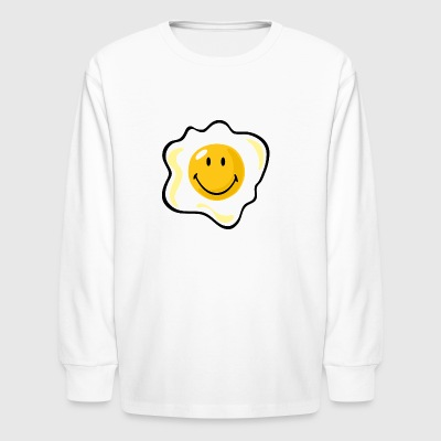 SmileyWorld Smiling Fried Egg - Kids' Long Sleeve T-Shirt