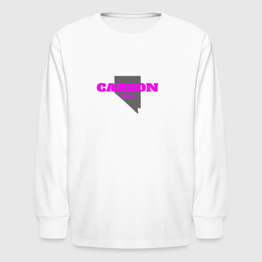 NEVADA CARSON US STATE EDITION PINK - Kids' Long Sleeve T-Shirt