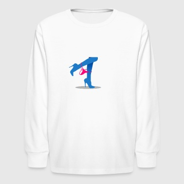 Pretty Woman's Legs With A Thong - Kids' Long Sleeve T-Shirt