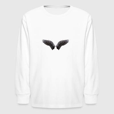 Black angel wings - Kids' Long Sleeve T-Shirt