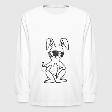 Cool funny Easter bunny for boys and girls - Kids' Long Sleeve T-Shirt