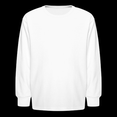 Coffee Blood Type | White Letters - Kids' Long Sleeve T-Shirt