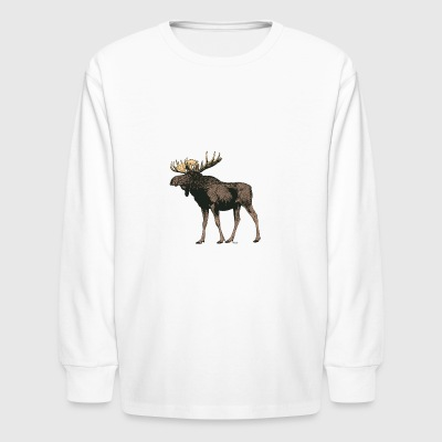 Moose - Kids' Long Sleeve T-Shirt