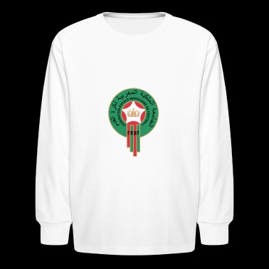 Moroccan team tee shirt - Kids' Long Sleeve T-Shirt