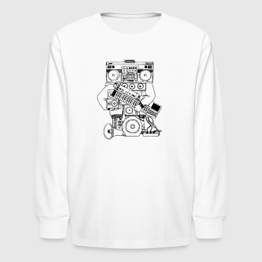 Hip-Hop Man Sound System - Kids' Long Sleeve T-Shirt