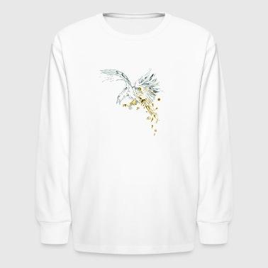 Clockwork Crow - Kids' Long Sleeve T-Shirt